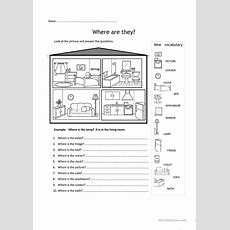 Rooms In The House Worksheet  Free Esl Printable Worksheets Made By Teachers English