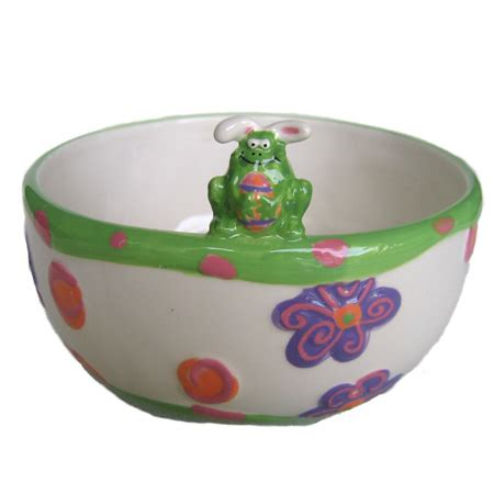 bunny frog candy bowl