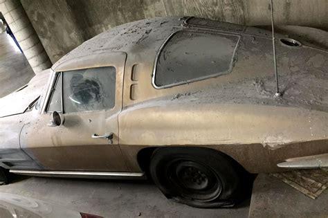 parking garage split window corvette