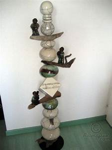 Totem Jazz - Sculpture, 160 cm ©2008 by Anne Schmitt