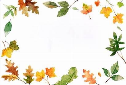 Border Fall Borders Clipart Clip Leaves Leaf