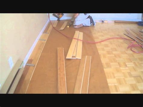 how to install parquet wood flooring installing hardwood floors over existing hardwood floors diy mryoucandoityourself youtube