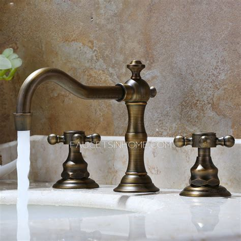 vintage bathroom sink faucets vintage antique bronze three hole bathroom sink faucet