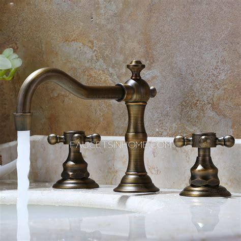 vintage antique bronze  hole bathroom sink faucet