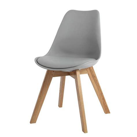 scandinavian style chair in grey maisons du monde