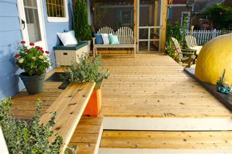 deck  built  cedar  protected