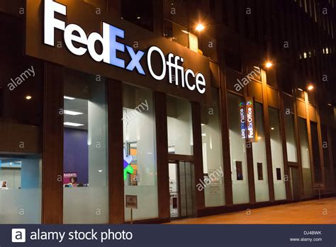 bureau fedex fedex office storefront nyc stock photo royalty free