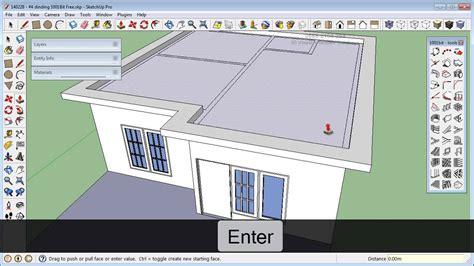 Sketchup Bit Free Rumah Membuat Atap