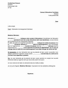 Modèle Changement D Adresse : lettre de d claration de changement d 39 adresse aupr s de la caf mod le de lettre gratuit ~ Gottalentnigeria.com Avis de Voitures