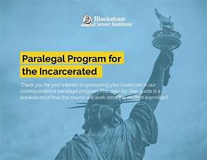 Cover Blackstone Getting Started Guide Paralegal Inmate