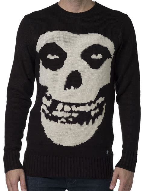 misfits sweater misfits crimson ghost crew knit sweater