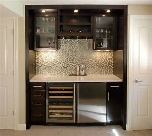Wet Bar Ideas Room Contemporary Glass Front Mini Fridge