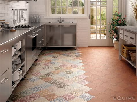 Kitchen Flooring : Arabesque Tile Ideas For Floor, Wall And Backsplash