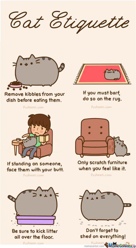 Pusheen Memes - pusheen 180 s cat etiquette by mandala meme center