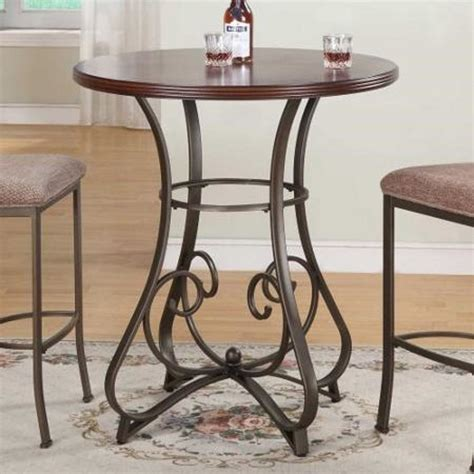 round bar height table 3 piece pub table set square red cushion stools 30 inch