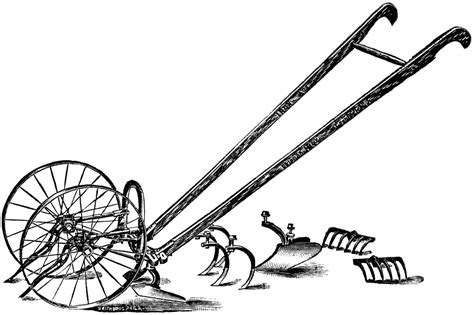 hand plow clipart