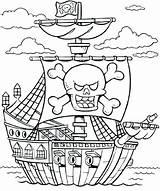 Ship Coloring Cruise Pirate Printable Getcolorings sketch template