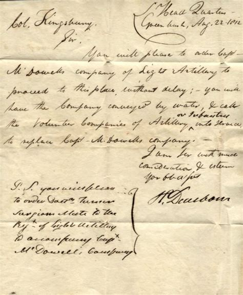 what to put in a cover letter rhode island stless cover 1812 letter from general 1812