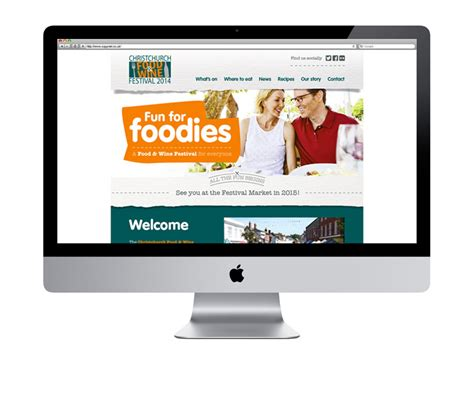 website for much loved foodie extravaganza cuco creative