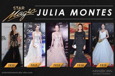 julia montes star magic ball 2018 star magic ball throwback julia montes through the years