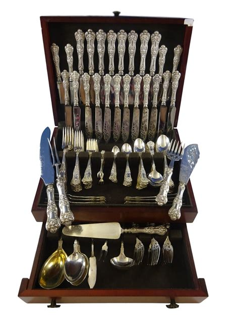 silver sterling birks flatware canada queens pieces dinner service