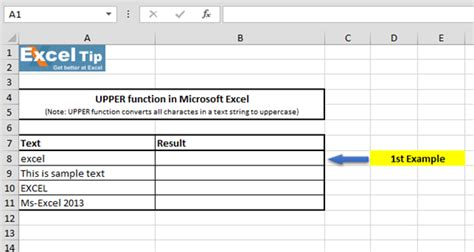 Letter Exle by How To Use Uppercase Function In Microsoft Excel