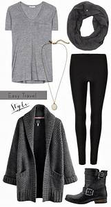 Minimal + ChicEasy Travel Outfit Traveling Outfit Winter Travel Outfit Casual Outfit Easy ...