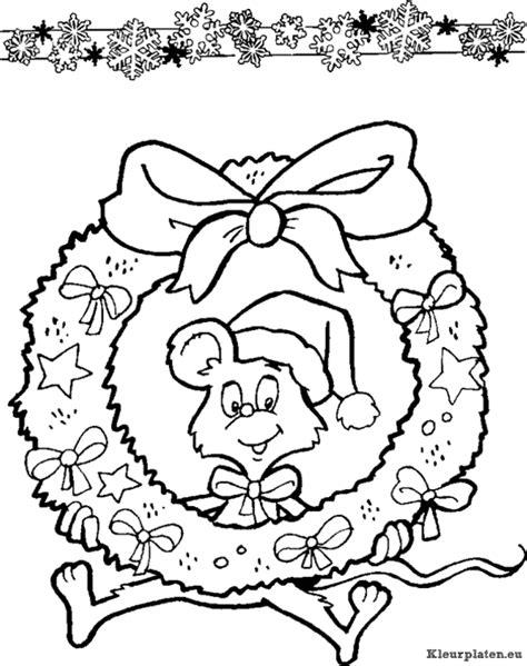 Kleurplaat Krans by Kerstkrans Kleurplaten Kleurplaten Eu