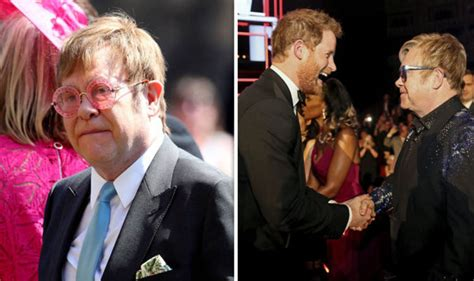 royal weddng step  elton  standing
