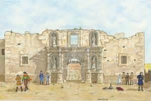 Alamo 1836 Drawing