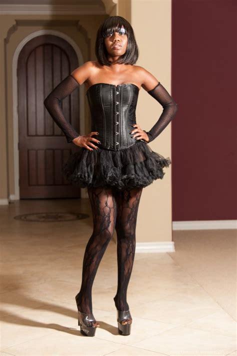 Nina Devon Has A Photo Shoot In A Pretty Black Dress She