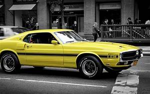 Ford mustang gt muscle car yellow side view 4k 3840×2160 muscle, mustang, yellow