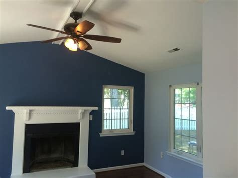 blue accent walls and on