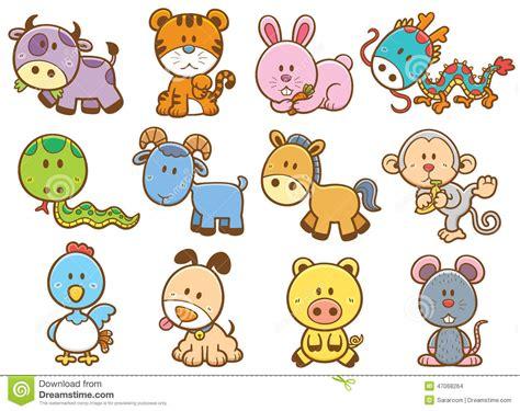 chinese zodiac animals stock vector image  rabbit
