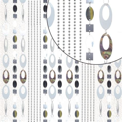 rideau de porte perles arty argent rideau de porte eminza