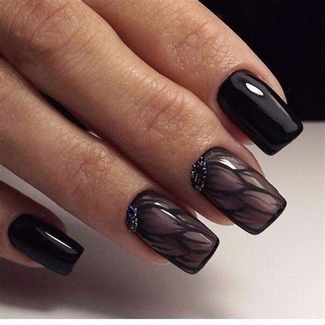 black nail designs 50 black nail designs nenuno creative
