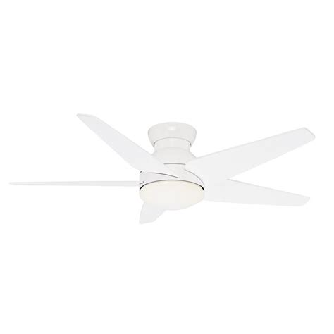 omega casablanca white ceiling fan with light remote shop casablanca isotope 52 in snow white indoor flush
