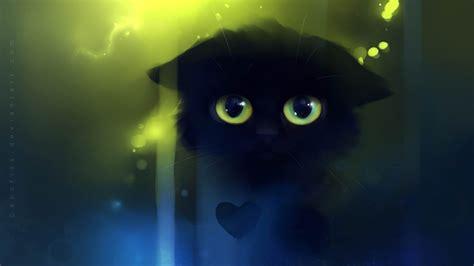 triste chat peinture fantasy fond decran apercu