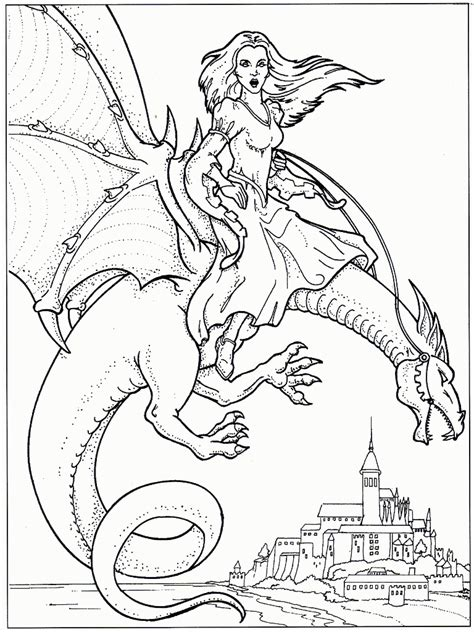 Coloring Dragons by Coloring Pages Knights And Dragons Coloring Home