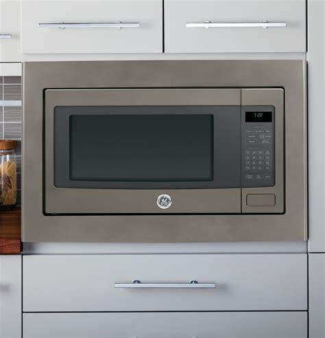 pebehes ge profile  cu ft built   countertop microwave slate