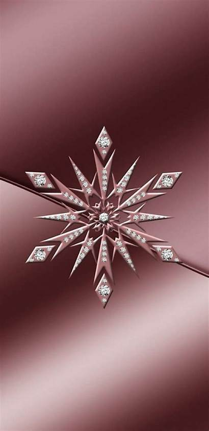 Gold Winter Rose Pink Snowflake Christmas Wallpapers