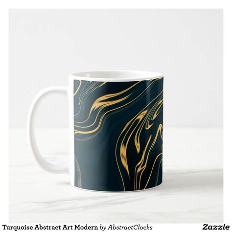Coffee mug warmer is perfect for those who don't need anything super fancy you can also leave it on for several hours at a time and it will still continue to keep your coffee warm for. Turquoise Abstract Art Modern Coffee Mug   Mugs, Modern art abstract, Modern art movements