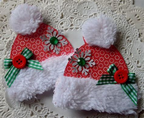 vintage frosted gingerbread embroidered felt cookie christmas ornaments christmas hat embellishmentsset of 2 by sarasscrappin on etsy 4 79 christmas ideas