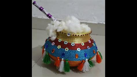 decorate pot  home  matki decoration  festival