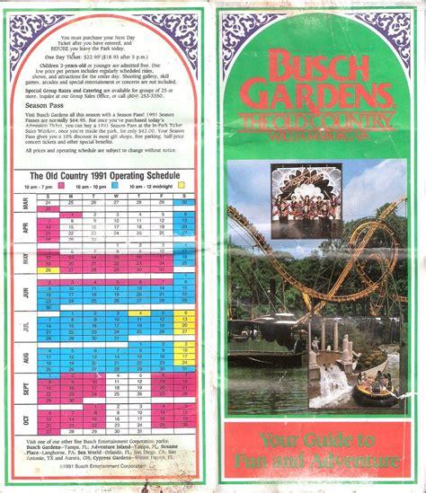 busch gardens season pass park map busch gardens the country 1991 the dod3