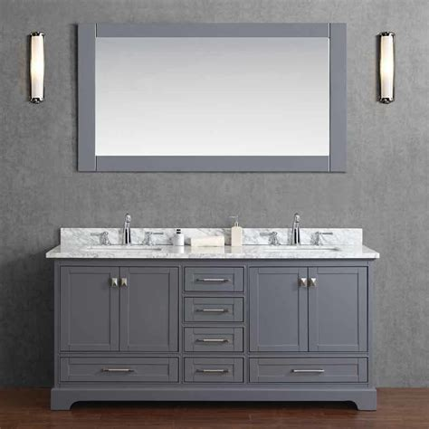 Bathroom Vanities Sink 72 by Stufurhome 72 Quot Newport Vanity Gray White Carrara