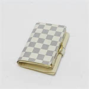 porte feuille louis vuitton auth louis vuitton portefeuille viennois damier azur bifold wallet 10066475 ebay