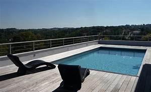 realisations techneau piscine With volet roulant piscine gris
