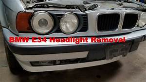 Front Headlight Removal Bmw E34 M5 540i 535i 530i