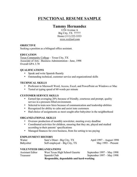 Functional Resumes Templates by 20 Microsoft Resume Templates Free